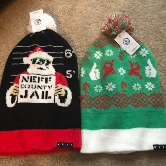 c5a50b5f0e7 New with Tags Neff Xmas beanie hats x2